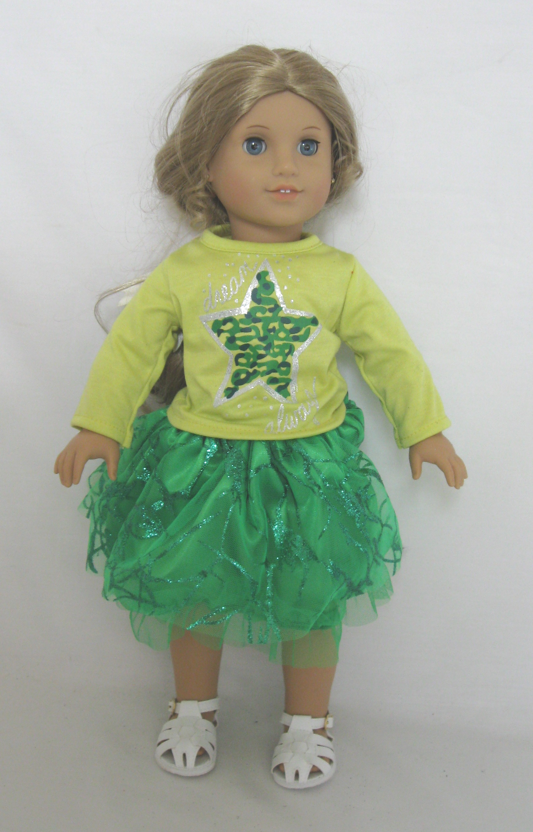 OFFER Green Star Top and Skirt Set