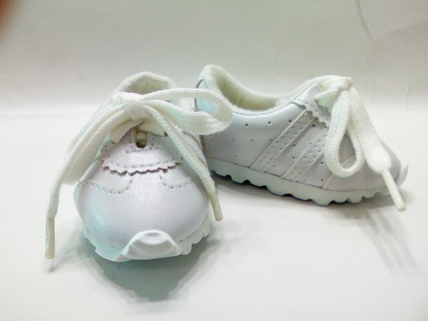 White Leather Look Tennis Shoe /